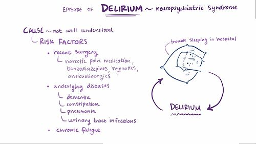 delirium meaning
