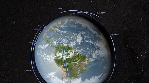 Meaning of Satellite in Urdu and Roman Urdu.