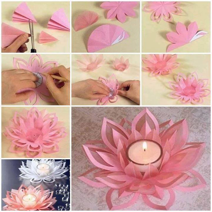 Как сделать цветок с бумаги картинки