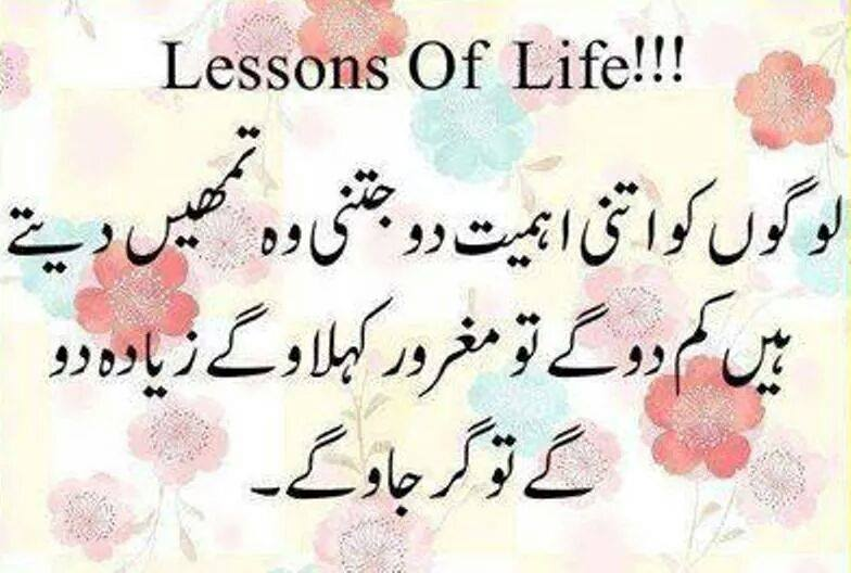 Lessons Of Life.