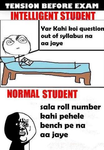 Tension Before Exams